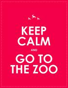 Keep calm and go to the zoo background Stock Illustration