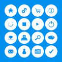 Stock Illustration of various web icons with special design