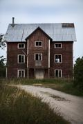 Old wooden building, Gotland, Sweden - stock photo