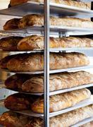 Bread in bakery, Stockholm, Sweden Stock Photos
