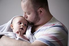 Father with baby son, London, United Kingdom Stock Photos