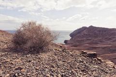 Deserted landscape, Spain - stock photo
