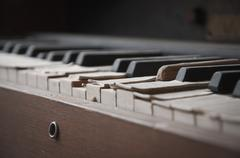 Close-up of old piano Stock Photos