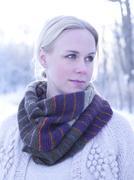 Young woman wearing muffler, Djurgarden, Sweden - stock photo