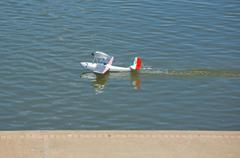 Radio controlled hydroplane Stock Photos