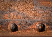 Stock Photo of two iron rivets