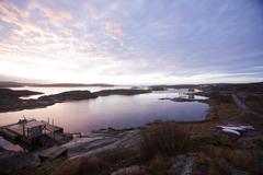 Small lagoon at dusk, Vastkusten. Sweden Stock Photos