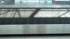 Empty baggage feeder at the airport Stock Footage