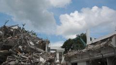 Demolition of old Building Timelapse Stock Footage