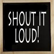 Stock Illustration of shout it loud