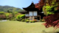 Koch Sanso garden Daijokaku Mountain Villa Japanese Maple Kyoto Stock Footage