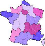 France region boundary changes in 2014 Stock Illustration