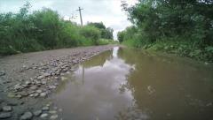 Rural dirt road Stock Footage