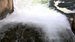 Water flowing from dam Stock Footage