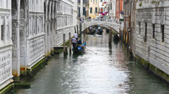 Timelapse Venice gondoliers Stock Footage