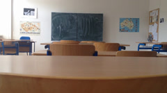 School class - empty with board Stock Footage