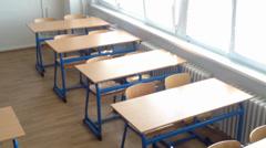 School class - empty Stock Footage