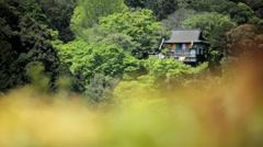 Koch Sanso Japanese ornate garden building Kyoto travel Japan Stock Footage