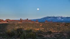 Moon rising over the Mountains Timelapse Stock Footage
