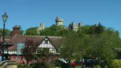Arundel castle, City of Arundel, South England Stock Footage