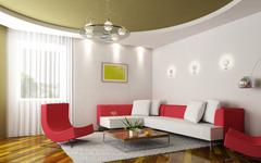 modern sitting room - stock illustration
