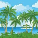 Stock Illustration of Exotic seamless tropical sea landscape