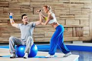 Stock Photo of fitness personal trainer