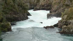 Arariatia Rapids tilt up Stock Footage