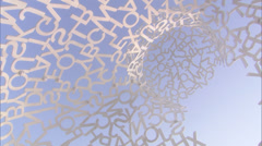 Abstract Alphabet Statue Pan Around Letters Stock Footage