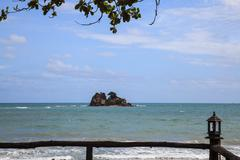 Small island in the gulf of thailand - stock photo