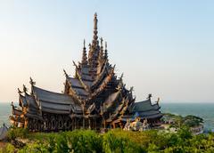 The Sanctuary of Truth.Pattaya. Thailand - stock photo