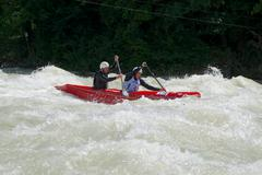 Wildwater Canoeing - stock photo