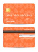 Credit card with special vintage design Stock Illustration