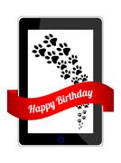 happy birthday gift with special design - stock illustration