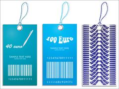 Set of price tags Stock Illustration