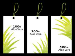 special price tag with aloe vera design - stock illustration