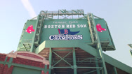 Stock Video Footage of Red Sox 2013 Championship Sign at Fenway Park