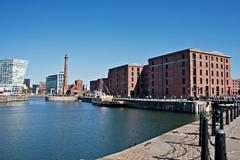 Stock Photo of view of liverpool's historic waterfront