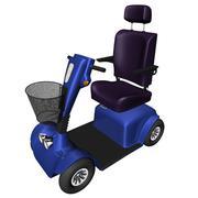 4 wheels wheelchair handicap scotter 3D Model