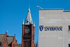 liverpool uk, 26 april 2014. university of liverpool, founded in 1881. liverp - stock photo