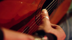 Acoustic Spanish / Classical Guitar - Finger Picking Close Up 2 HD Stock Footage