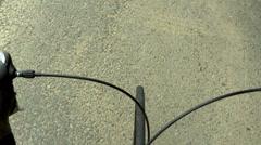 Roadbike cycling racing onboard perspective Stock Footage