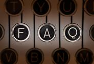 Stock Photo of old style faq
