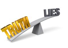 truth outweighs lies - stock illustration