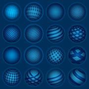 Blue planet symbols, vector Stock Illustration