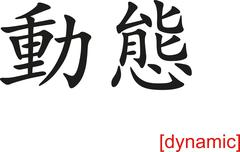 Chinese Sign for dynamic Stock Illustration