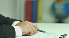 4K & HD resolutions: the european businessman check ans sign the document - stock footage