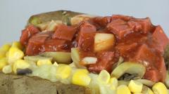 Turkish Potato Salad Kumpir Stock Footage