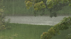 Weather - heavy rain and thunderstorm - stock footage