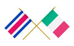 Stock Illustration of flags, italy and costa rica